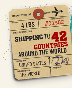 Shipping to 48 Countries Around the World!